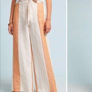 ETT TWA by Anthropologie orange striped trouser 4